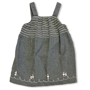Janie and Jack Poodle Jumper Dress Pink Gray 3-6M